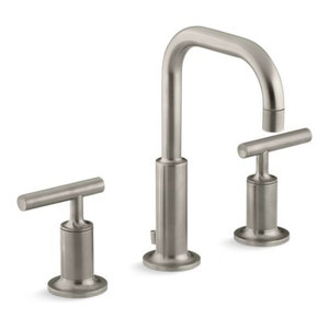 Kohler Purist Widespread Bathroom Faucet, Vibrant Brushed Nickel