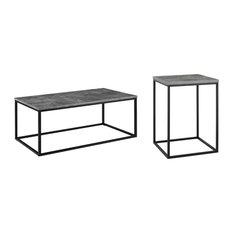 2-Piece Modern Coffee Table Set Dark Concrete by Walker Edison Furniture Company