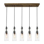 5-Light Glass Mason Jar Hanging Ceiling Pendant Kitchen Island Lighting
