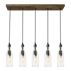 LNC   5 Light Glass Mason Jar Hanging Ceiling Pendant Kitchen Island  Lighting   Kitchen