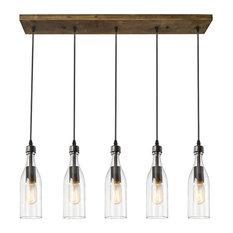 industrial kitchen lighting. LNC - 5-Light Glass Mason Jar Hanging Ceiling Pendant Kitchen Island Lighting Industrial