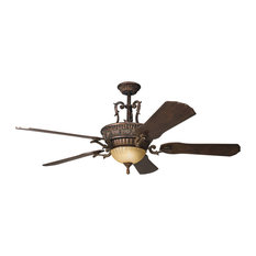 50 most popular rustic ceiling fans for 2018 houzz kichler kimberley 9 light indoor ceiling fans berkshire bronze ceiling fans mozeypictures Choice Image