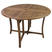 Round Eucalyptus Folding Dining Table, 43""