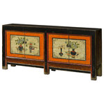 China Furniture And Arts   Chinese Mandarin Sideboard With Still Life Art    Constructed Entirely Of