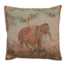 "European Wall Art - Elephant I European Cushion, Wall Tapestry, 19""x19"" - Decorative Pillows"