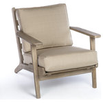 Coast Teak Easy Chair Midcentury Outdoor Lounge Chairs By