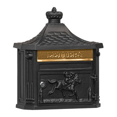 Victorian Mailbox, Surface Mounted, Black