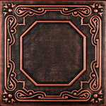 """Decorative Ceiling Tiles - 20""""x20"""" Topkapi Palace, Styrofoam Ceiling Tile, Black Copper - Goes Over Popcorn And Most Ceiling Surfaces, Styrofoam, 20x20 (2.7 sqft), Adds Insulation, Easy Install, Light Weight, No Expensive Tools Needed, Paintable With Any Water-Based Paint"""