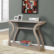 """Monarch 47"""" Three Tier Hall Console Accent Table in Dark Taupe"""