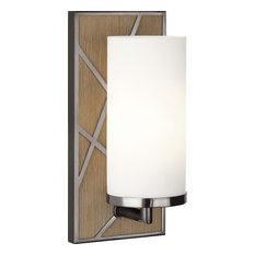 Michael Berman Bond Frosted White Glass Wall Sconce