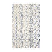 Studio Seven Dip Dye Rug, Ivory/Blue, 5'x8'