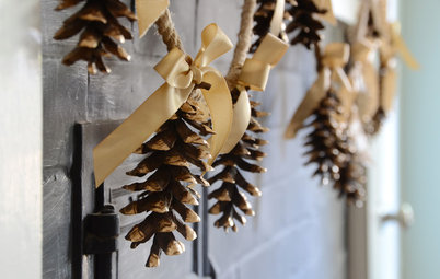 Holiday DIY: Sweet and Festive Pine Cone Garland
