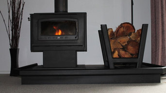 Steel fireplace hearths