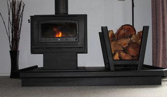 Steel fireplace hearths