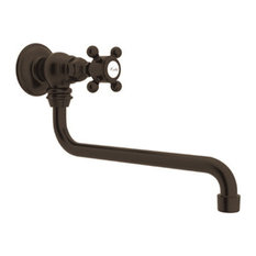 Rohl A1445XM-2 Country Kitchen Wall Mounted Pot Filler Faucet, Tuscan Brass
