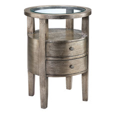 Lucan Beveled Glass Top Accent Table