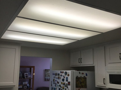 Fluorescent Lighting Fixture In Kitchen