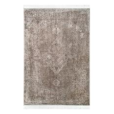 """nuLOOM Withering Medallion Fringe Area Rug, Ivory, Light Brown, 7'6""""x9'6"""""""