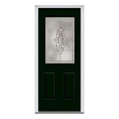 "Heirloom Master 1/2 Lite 2-Panel Steel, Hunter Green, 33.5""x81.75"", Left"