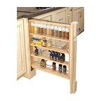 3-Inch Wood Base Cabinet Pullout Filler With Adjustable Shelves