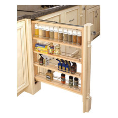 Rev-A-Shelf - 3-Inch Wood Base Cabinet Pullout Filler With Adjustable Shelves - Pantry and Cabinet Organizers