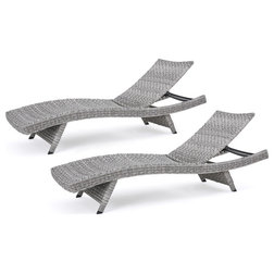 Beach Style Outdoor Chaise Lounges by GDFStudio