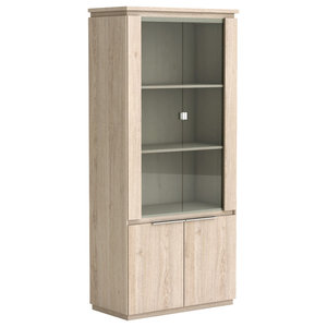 Origin Display Cabinet, Arizona Oak, Traditional