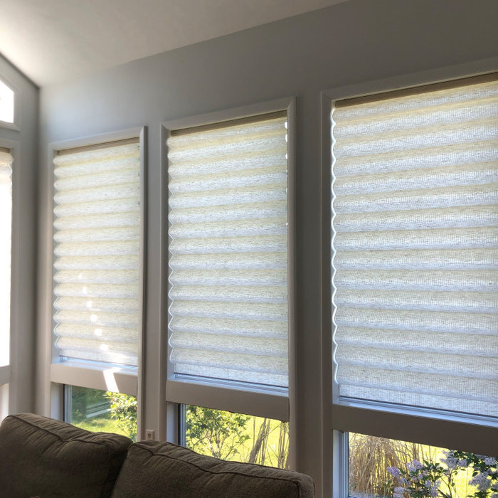 Before and after pictures: Roman shades
