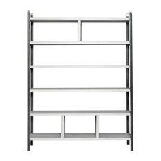 Susteren Pearl Grey Shelving Unit, 150x200x30 cm