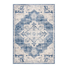 """Safavieh Brentwood Collection BNT865 Rug, Ivory/Navy, 5'3""""x7'6"""""""