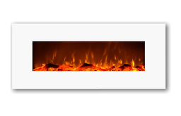 Touchstone Ivory Electric Wall-Mounted Fireplace, White