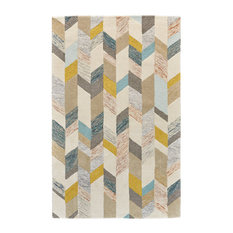 Weave & Wander Binada Rug, Gray and Gold, 5'x8'