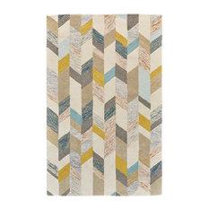 Binada Rug, Gray and Gold, 5'x8'
