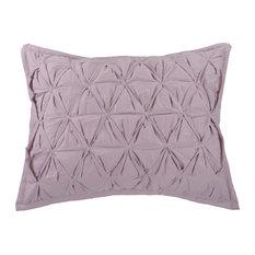 Cozy Chic Pillow Sham, Iris/Beige, Standard