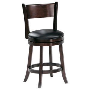 Palmetto Swivel Stool 24 Quot Transitional Bar Stools And