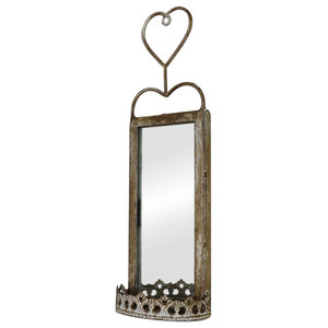 Small Vintage Wall Hanging Mirrored Sconce 11cm x 36cm
