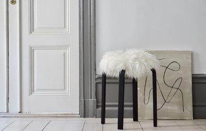 """Ikea-Hack: Ein stylisches Fellkleid für den """"Frosta""""-Hocker"""
