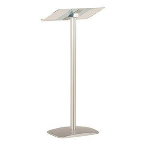 Modern Stylish Lectern Stand, Aluminium Frame and Acrylic Top