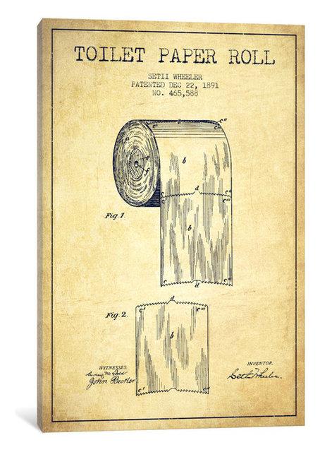 Toilet paper vintage patent blueprint by aged pixel canvas print toilet paper vintage patent blueprint by aged pixel canvas print 18 malvernweather Images