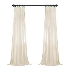 "FauxLinen Semi Sheer Single Panel Curtain, Pale Bloom, 50""x84"""