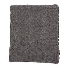 Hampton Throw, Charcoal Gray Melange