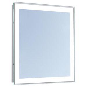 Led Bordered Illuminated Mirror Contemporary Bathroom