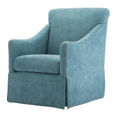 Georgia Ocean Skirted Swivel Chair, Ocean
