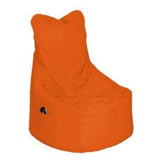 Drawer - Pouf Lounge Large Couleur Orange - Repose-pieds, Pouf et Cube