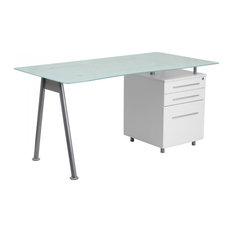 Mason Glass Top Desks Houzz