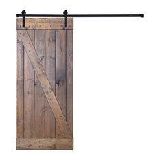 36in x 84in DIY Sliding Barn Wood Door with Hardware Kit Included Z3 Shape