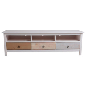 Multicolor 3-Drawer TV Stand