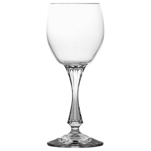 Lead Crystal Sherry Glasses With Decorative Stems, Set of 6