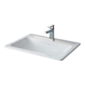 """Cheviot Products Manhattan Drop-In Sink, 21 5/8"""", Single Hole Faucet Drilling"""