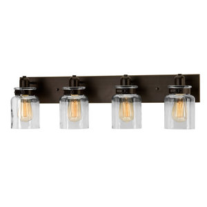 Luxury Farmhouse Bath Vanity Light, Bridgeport Series, Olde Bronze